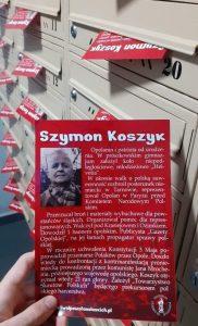 Patroni opolskich ulic: Szymon Koszyk